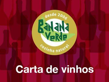 Carta de vinhos Banana Verde